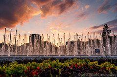 Фонтаните пред НДК / The fountains in front of The National Palace of Culture (AVasilev) Tags: фонтани ндк залез небе fountains national palace culture sunset sky