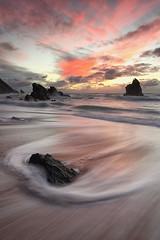 Running Colors... (SrgioLusSilva) Tags: sunset beach colors canon sintra praiadaadraga canon1740f4l cs5 adragabeach canon5dmkii 5dmkii vivezza lee09soft leeholder srgiolussilva pnscportugal