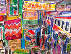 WHEN SANTA FE WAS THE WAY TO GO WEST (roberthuffstutter) Tags: style expressionism impressionism huffstutter watercolorsbyhuffstutter artmarketusa