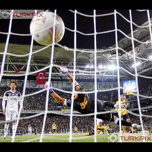 Fenerbahce's Moussa Sow (C) scores second goal during their UEFA Europa League Group Stage Group C soccer match Fenerbahce between AEL Limassol at Sukru Saracaoglu stadium in Istanbul Turkey on Thursday 08 November 2012. Photo by TURKPIX #fenerbahce #turk