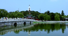 Beautiful (BenValjean) Tags: china park travel summer lake water architecture canon eos asia screensaver outdoor beijing naturallight   dslr orient beihai    500d  eos500d benjamingoodacre goodacrephotography whitepagoda