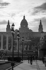 (Hervé KERNEIS) Tags: noiretblanc espagne barcelone catalogne placaespanya museunacionaldartdecatalunya candélabres sonyrx100 voyagesaintlaurent