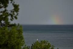 VISTA DESDE EL CASTILLO DE FUENGIROLA (Daniel_mza) Tags: arcoiris mar lluvia barco noviembre castillo fuengirola mlaga 2012 nikond3100