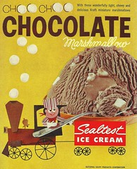 SEALTEST CHOCOLATE MARSHMALLOW (1950sUnlimited) Tags: food design desserts icecream 1950s packaging snacks 1960s dairy midcentury snackfood sealtest