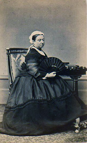 Queen Victoria In Widows Weeds Albumen Carte De Visite Circa 1868