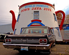 At Bob's () Tags: auto usa building ford coffee car architecture america way java photo washington cool automobile state image south united picture landmark historic pot nostalgia photograph vehicle nostalgic americana tacoma states 500 jive fairlane bobs worldcars
