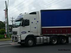 Hopper Transport Volvo Bdouble (Scotty Bourne) Tags: volvo highway transport interstate hopper haulage cabover bdouble tautliner