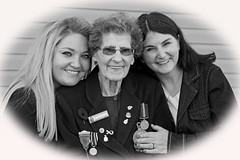 Adoring Mother (hynes.jane) Tags: family blackandwhite love senior mom grandmother daughter aged veteran nan