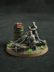 Death Korps of Krieg Mortar team (T Markham) Tags: warhammer40k gamesworkshop imperialguard forgeworld deathkorpsofkrieg
