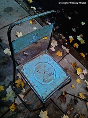 These Final Hours (Doyle Wesley Walls) Tags: leaves chair photograph lagniappe smartphonephoto doylewesleywalls