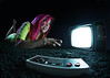 Gamer (awallphoto) Tags: pink arizona portrait game hair asian carpet tv video nintendo az olympus fisheye ft controller pinkhair 43 omd 75mm ultrawideangle fourthirds awall samyang em5 aaronwallace awallphoto awallphotocom