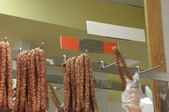 Sausage (-Tripp-) Tags: city urban food chicago illinois north sausage neighborhood stop northside lincolnsquare chicagoland chicagoist