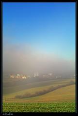 Fog and blue sky (Lutz Koch / away) Tags: fog landscape nebel pentax foggy bluesky landschaft taunus idstein k7 idsteinerland elkaypics