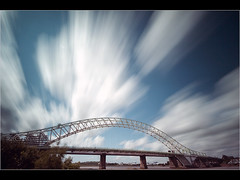 Moving.... (Chrisconphoto) Tags: longexposure sky clouds le runcorn merseyside runcornbridge weldingglass