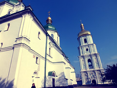 Ortodox Monastery (E Pulejo) Tags: travel white church golden holy monastery kiev ortodox ucraine