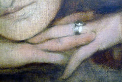 Fernand Khnopff, I Lock the Door Upon Myself, detail with fingers