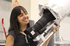 "Natalie finished some work on the star camera baffle • <a style=""font-size:0.8em;"" href=""http://www.flickr.com/photos/27717602@N03/8215821754/"" target=""_blank"">View on Flickr</a>"