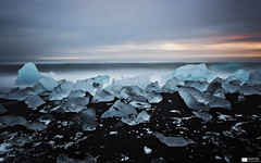 Ice Art (Iceland 11) (Daniel Wildi Photography) Tags: longexposure sea seascape art ice nature water landscape photography iceland waves daniel 2012 blackbeach jkulsrln wildi