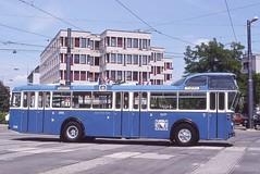 1989-06, Zürich, Depot Kalkbreite (Fototak) Tags: zürich autobus 239 tmz fbw tüscher hochlenker