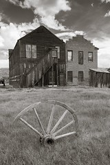 Bodie miners' union (Xiphoid8) Tags: old abandoned decay rustic ghosttown bodie wagonwheel bodieghosttown monocounty abandonedtown bodiecalifornia blackwhitephotos bodieca goldtown minersunionhall oldwagonwheel monocountyca bodieminersunion crackedwagonwheel