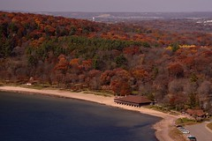 North Shore of Devils Lake State Park - Wisconsin (tgiacb717) Tags: statepark autumn trees sky lake fall beach nature water leaves wisconsin clouds outdoors scenery rocks hiking scenic hike trail geology wi northend beachhouse devilslake baraboo devilslakestatepark baraboowisconsin baraboowi tgiacb717 devilslakenorthshore