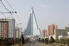 Ryugyong Hotel Pyongyang (xveair) Tags: old city people tower monument architecture bronze river workers cabin war day republic view kim stadium military air south airplanes north may social korea il communist un korean seoul fields socialist roads reconciliation democratic dmz frontier stalin jong avions tupolev pyongyang staline sung arirang koryo juche illyushin kaesong président taedong hamhung konomark