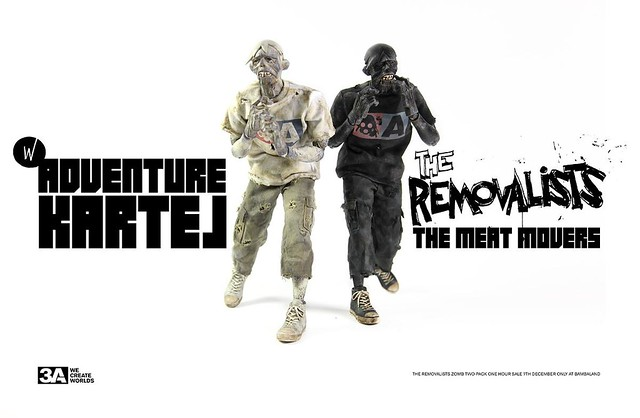 threeA - Adventure Kartel 系列 The Removalists 黑白殭屍雙人包
