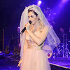 Marina Diamandis of Marina and The Diamonds performs in a wedding dress
