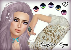 Confetti Eyes (Airedine) Tags: eyes sl galaxy fantasy secondlife unicorn unisex adore flf abhor spacepunk airedine adoreandabhor fiftylindenfridays