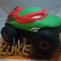 Turtle Monster Truck (Erin-M) Tags: cake truck turtle birthdaycake raphael monstertruck tmnt flickrandroidapp:filter=none