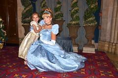 Violet And Cinderella (Joe Shlabotnik) Tags: castle orlando violet disney disneyworld cinderella waltdisneyworld magickingdom 2012 cinderellascastle faved november2012