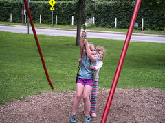 (jensl) Tags: family playground kids vermont swings visit tourist goodbye brattleboro russ vt