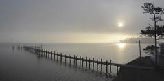 Morning Fog on the Potomac at St. George Island (r.w.dawson) Tags: panorama fog landscape island pier us maryland potomac potomacriver 2012