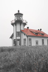Mendocino California Point Cabrillo Lighthouse - Red Roof (Erich J. Harvey) Tags: california red lighthouse white black mendocino pointcabrillo