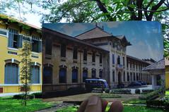 Trường Gia Long khoảng năm 1965-66, nay là trường Nguyễn Thị Minh Khai (Khánh Hmoong) Tags: school building 1966 vietnam saigon oldpicture 1965 thennow lookingintothepast nikond90 xưavanay