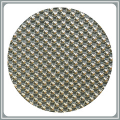 Experimental Beads -:- 825-1a (buddhadog) Tags: beads circles gray repetition squircle upclose 500x500