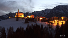 Twilight (Crepuscolo) (Dora Joey) Tags: light mountain snow childhood twilight neve land luci montagna belluno notturno crepuscolo paese collesantalucia bestcapturesaoi elitegalleryaoi