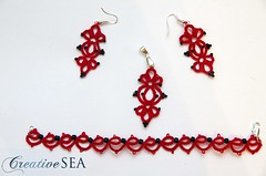 ST001 (seandreea) Tags: red black set tatting seedbeads rosu negru frivolite bumbac margelenisip