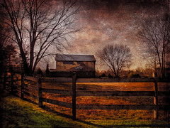 Winter's Light (DaraDPhotography) Tags: trees winter nature field barn rural fence textures textured theworldwelivein daarklands lenabemannatextures wwwdaradphotographycom pixeldustphotoart 2lilowlsstudio freetexture73 luminary312 pdpaohhappyday