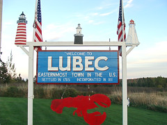 Lubec welcome sign, Maine (StanfordsTravel) Tags: travel usa sign town us maine newengland east welcome lubec washingtoncounty easternmost