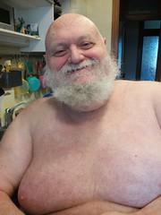 His smile (orsorama) Tags: beard barba bear orso smile sorriso chest petto hairy pelo