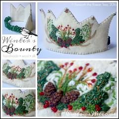 Winter Wool Birthday Crown (BeneathTheRowanTree) Tags: waldorf felted natural crown birthdaycrown winter holly mistletoe pinecones felting