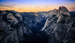 Dusk on Yosemite Valley & Half Dome (Bartfett) Tags: yosemite national park valley sunset dusk twilight half dome glacier point colors sky hike forest trails mountains granite beautiful north cliffs canyon