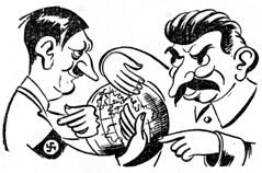 Friends (stillunusual) Tags: nazi nazigermany germany ussr sovietunion russia adolfhitler hitler josefstalin stalin nazisovietpact ribbentropmolotovpact secondworldwar worldwar2 ww2 wwii history poland polska cartoon globe swastika 1939