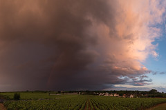 Rainbow Panorama (MrBlackSun) Tags: rainbow vineyards vigneron arcenciel bourgogne burgundy france nikon d810 nikond810