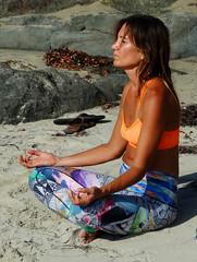 Meditation on Laguna Beach 9-16 (inkknife_2000 (7 million views +)) Tags: california beaches usa lagunabeach beachlife sea ocean pacific yoga meditation peace tannedgirl girlintwopiece girlonbeach