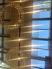 Chandeliers lighting the day - 22/09/16 (Visualise it) Tags: macarthursquareshopping australia queensland brisbane lights atrium iphone 366 chandeliers