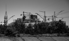 Chernobyl Reactor 1 (Dave and Jodi Piddington) Tags: chernobyl ukraine holiday decay abandonedbuildings death history nucleardisaster accident travel dark tourism darktourism photography architecture nuclear disasters adventure kiev blackandwhite