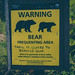 Bear Frequenting Area