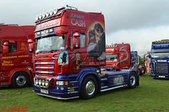 Scania R620 'B. Woods' reg LX57 KNU (erfmike51) Tags: scaniar620 artic truck lorry bwoods swedefest2016 v8